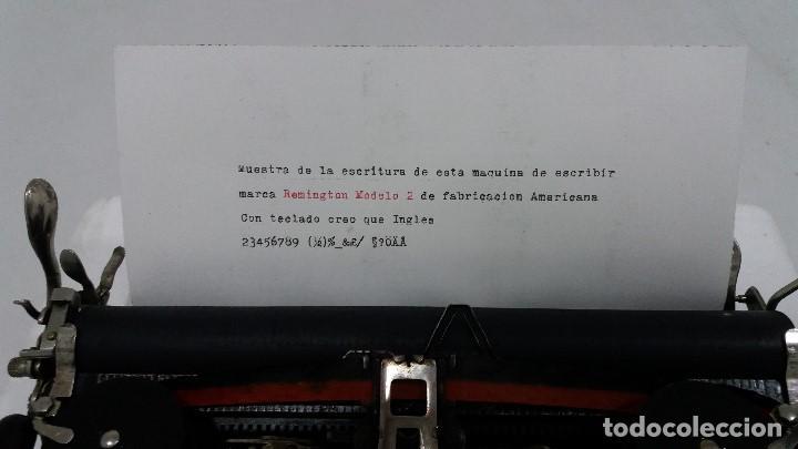 Antigüedades: MAQUINA DE ESCRIBIR REMINGTON MODELO 2 EN PERFECTO ESTADO - Foto 17 - 212185902