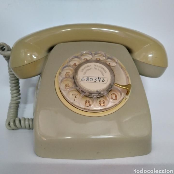 Teléfonos: Teléfono Heraldo gris de sobre mesa CITESA CTNE fabricado en Málaga - Foto 2 - 212197943