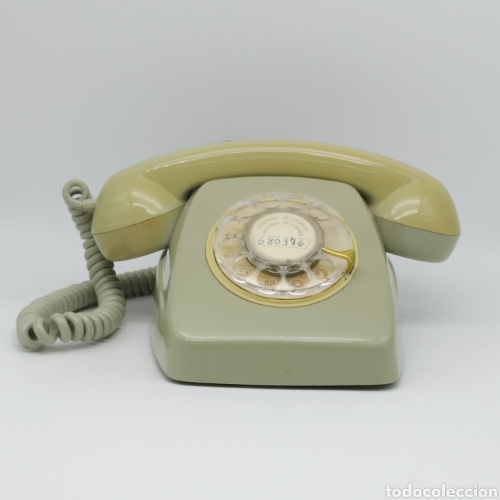 Teléfonos: Teléfono Heraldo gris de sobre mesa CITESA CTNE fabricado en Málaga - Foto 9 - 212197943