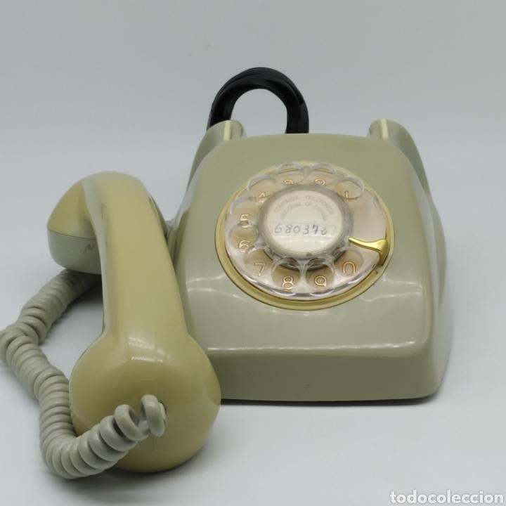 Teléfonos: Teléfono Heraldo gris de sobre mesa CITESA CTNE fabricado en Málaga - Foto 10 - 212197943