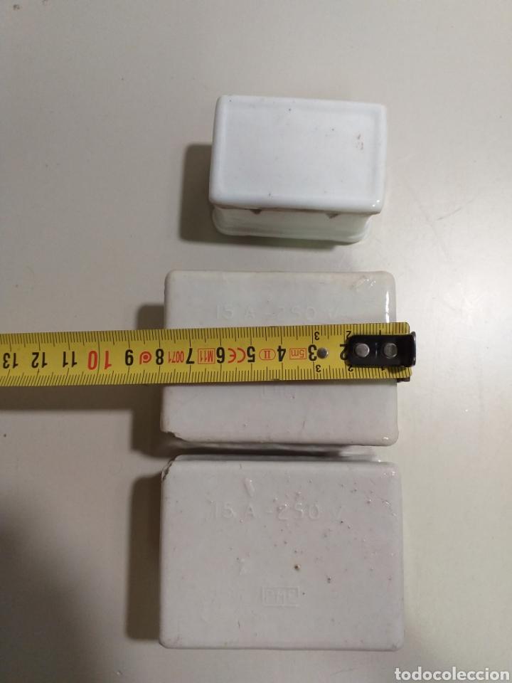 Antigüedades: Antiguas cajas de fusibles o plomos de porcelana. Marca PME - Foto 2 - 212210297