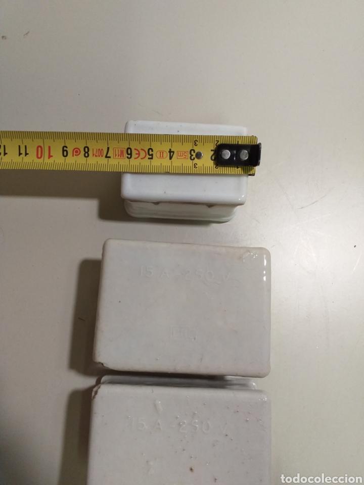 Antigüedades: Antiguas cajas de fusibles o plomos de porcelana. Marca PME - Foto 3 - 212210297