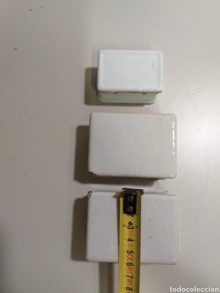 Antigüedades: Antiguas cajas de fusibles o plomos de porcelana. Marca PME - Foto 4 - 212210297