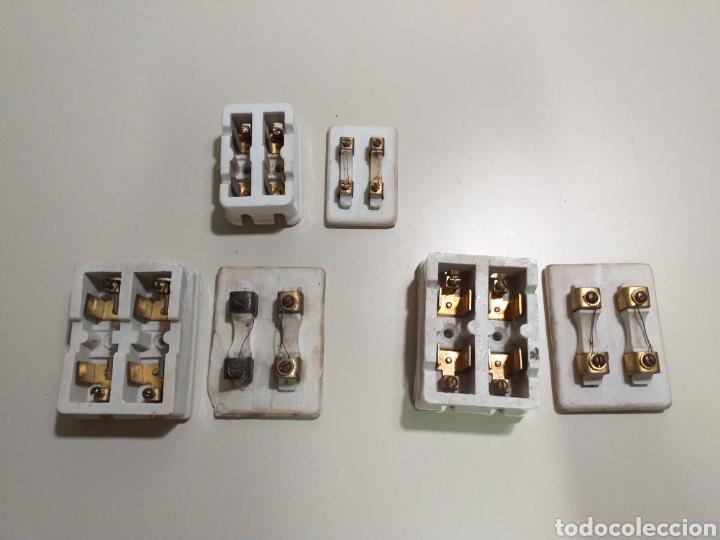 Antigüedades: Antiguas cajas de fusibles o plomos de porcelana. Marca PME - Foto 6 - 212210297