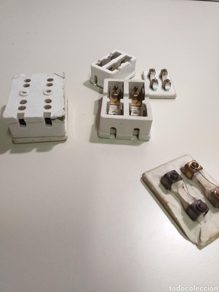 Antigüedades: Antiguas cajas de fusibles o plomos de porcelana. Marca PME - Foto 8 - 212210297