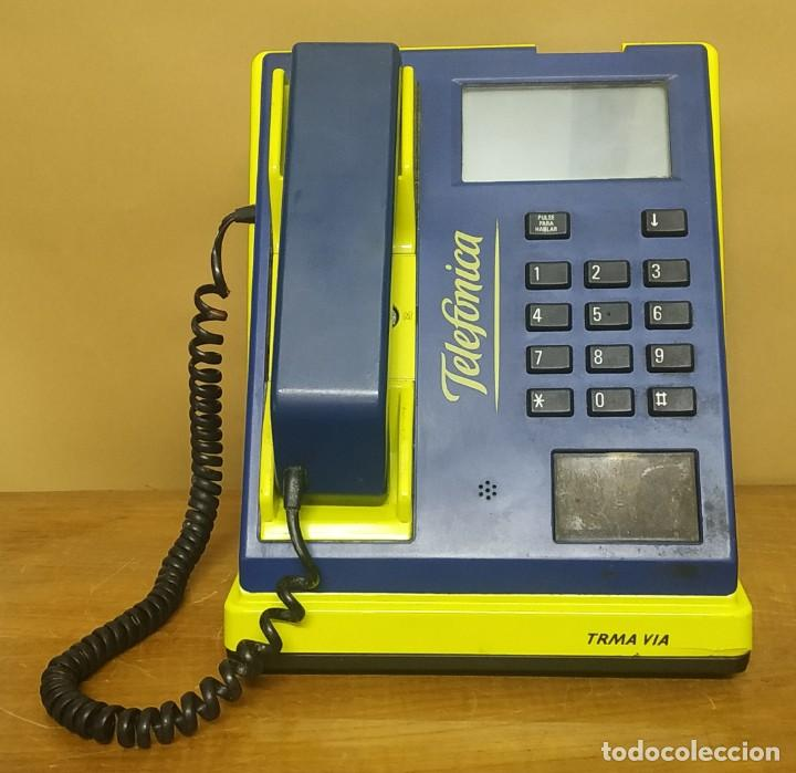 CABINA TELEFÓNICA DE MONEDAS - TRMA VIA - THOMPSON (Antigüedades - Técnicas - Teléfonos Antiguos)
