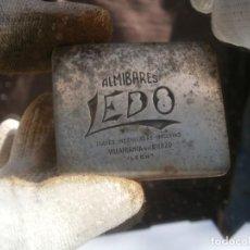 Antigüedades: MOLDE PUBLICITARIO DE IMPRENTA ÚNICO. AÑOS: 30/40. ALMIBARES LEDO VILLAFRANCA DEL BIERZO (LEON). Lote 212357217
