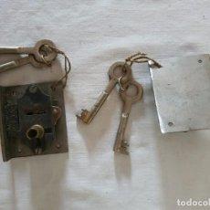 Antigüedades: CERRADURAS PARA EMPOTRAR. Lote 212358660