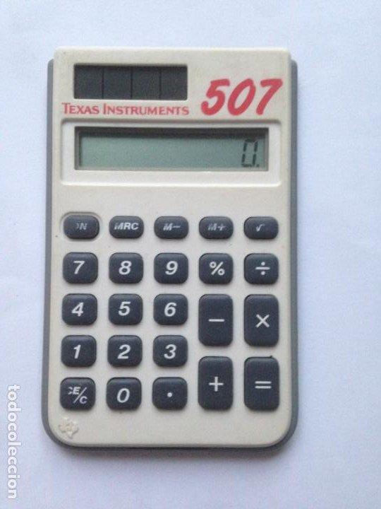 TEXAS INSTRUMENTS 507 CALCULADORA SOLAR - FUNCIONANDO (Antigüedades - Técnicas - Aparatos de Cálculo - Calculadoras Antiguas)