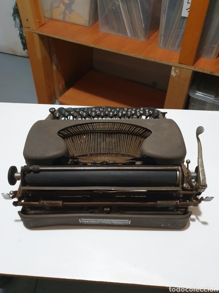 Antigüedades: Maquina de escribir patria, imperial española, eibar, España. - Foto 6 - 212471277