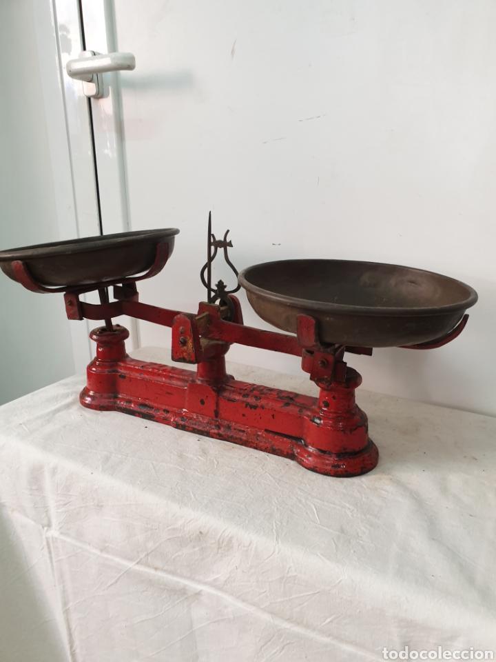 Antigüedades: Balanza de platos - Foto 2 - 212480531