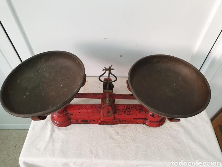 Antigüedades: Balanza de platos - Foto 3 - 212480531