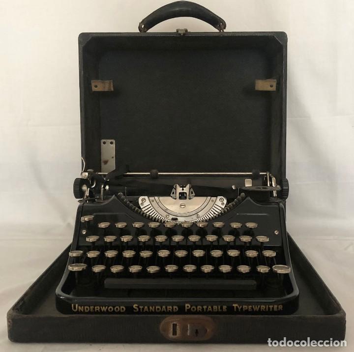 MAQUINA DE ESCRIBIR - UNDERWOOD STANDARD PORTABLE TYPEWRITER - USA - AÑOS 30. (Antigüedades - Técnicas - Máquinas de Escribir Antiguas - Underwood)
