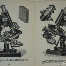 "Antigüedades: MICROSCOPIOS. LIBRO VINTAGE ""THE MICROSCOPE, A SIMPLE HANDBOOK"" 1923. Lote 212747413"
