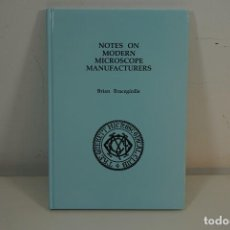 Antiquités: 'MICROSCOPE MANUFACTURERS' DE BRIAN BRACEGIRDLE. COLECCIONISMO DE MICROSCOPIOS DESDE 1850. Lote 212753318