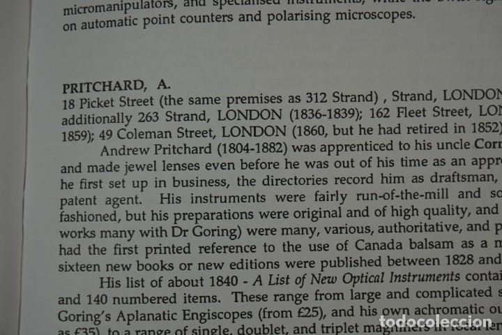 Antigüedades: MICROSCOPE MANUFACTURERS de Brian Bracegirdle. Coleccionismo de Microscopios desde 1850 - Foto 19 - 212753318