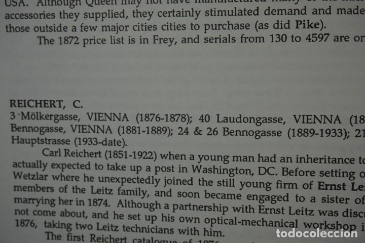 Antigüedades: MICROSCOPE MANUFACTURERS de Brian Bracegirdle. Coleccionismo de Microscopios desde 1850 - Foto 20 - 212753318