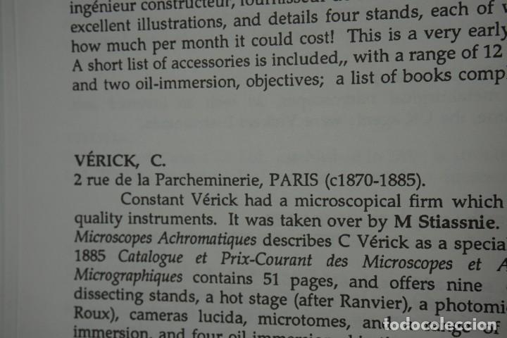 Antigüedades: MICROSCOPE MANUFACTURERS de Brian Bracegirdle. Coleccionismo de Microscopios desde 1850 - Foto 25 - 212753318