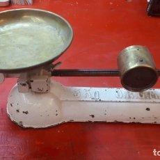 Antigüedades: BALANZA ALEMANA DRGM, MUY RARA,CON RELOJ.. Lote 212768035