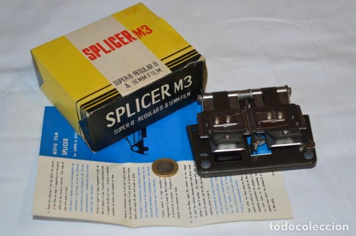 VINTAGE - EMPALMADORA SPLICER M3 - SUPER 8 - REGULAR 8 & 16 MM. CAJA E INSTRUCIONES ¡MIRA FOTOS! (Antigüedades - Técnicas - Aparatos de Cine Antiguo - Cámaras de Super 8 mm Antiguas)