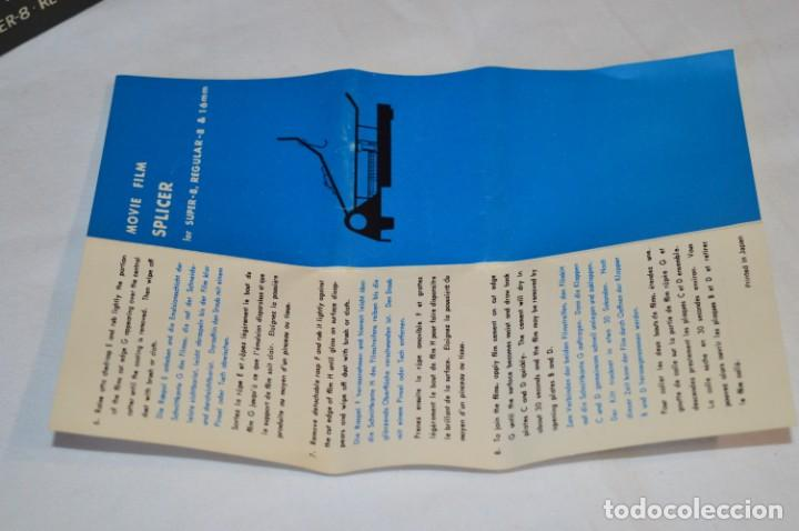 Antigüedades: VINTAGE - EMPALMADORA SPLICER M3 - Super 8 - Regular 8 & 16 Mm. Caja e instruciones ¡Mira fotos! - Foto 7 - 212796016