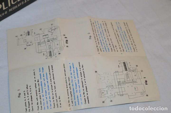 Antigüedades: VINTAGE - EMPALMADORA SPLICER M3 - Super 8 - Regular 8 & 16 Mm. Caja e instruciones ¡Mira fotos! - Foto 8 - 212796016