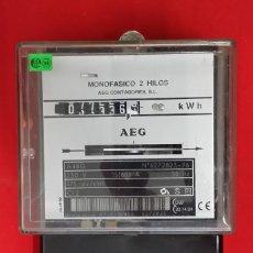 Antigüedades: CONTADOR DE LUZ MONOFASICO - AEG. Lote 212803015