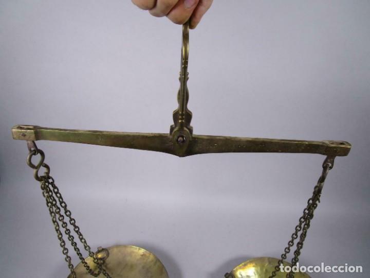 Antigüedades: Antigua romana izmir Hüseyn FIRMA SIGLO XVIII XIX vigas báscula, balanza pesada 5 kg. 25 cm Ø plato - Foto 5 - 212841212