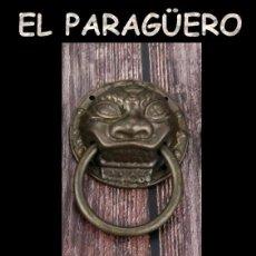 Antigüedades: PICAPORTE O LLAMADOR DE PUERTA ZOOMORFICO - UNA VERDADERA PRECIOSIDAD DIFICIL DE ENCONTRAR. Lote 212948666