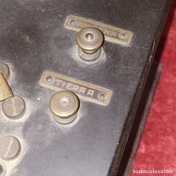 Teléfonos: DERIVADOR DE SEÑAL TELEFÓNICA (?). MADERA. BAQUELITA. METAL. ESPAÑA. CIRCA 1940 - Foto 5 - 213056960