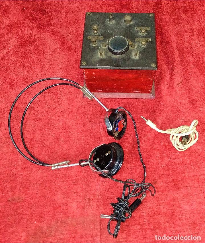 DERIVADOR DE SEÑAL TELEFÓNICA (?). MADERA. BAQUELITA. METAL. ESPAÑA. CIRCA 1940 (Antigüedades - Técnicas - Teléfonos Antiguos)