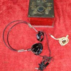 Teléfonos: DERIVADOR DE SEÑAL TELEFÓNICA (?). MADERA. BAQUELITA. METAL. ESPAÑA. CIRCA 1940. Lote 213056960