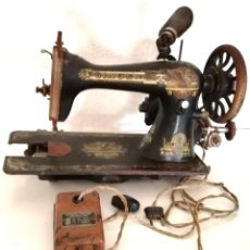 Antigüedades: SINGER GREAT BRITAIN 1903 CON MOTOR SEWING SIMANCO + MOTOR SEWING CONTROLLER + LÁMPARA. Lote 213095843