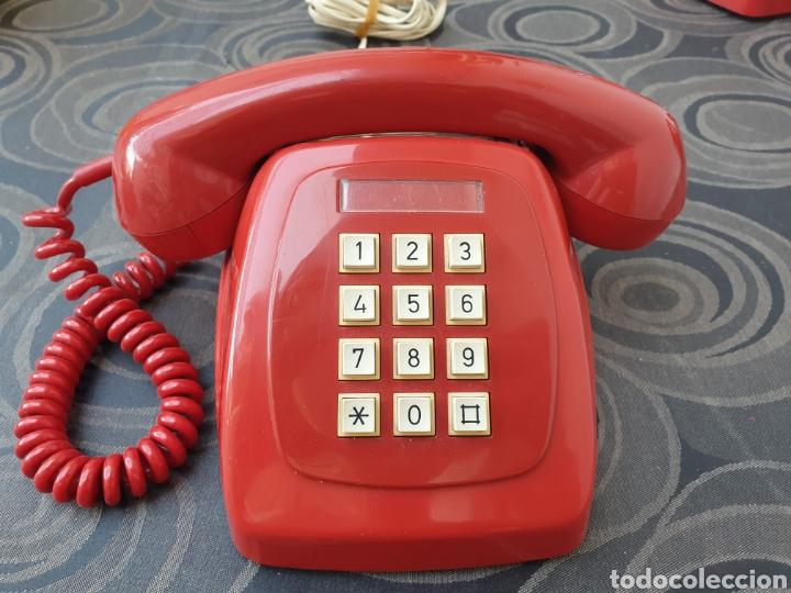 TELÉFONO HERALDO ROJO. FUNCIONA CORRECTAMENTE. (Antigüedades - Técnicas - Teléfonos Antiguos)