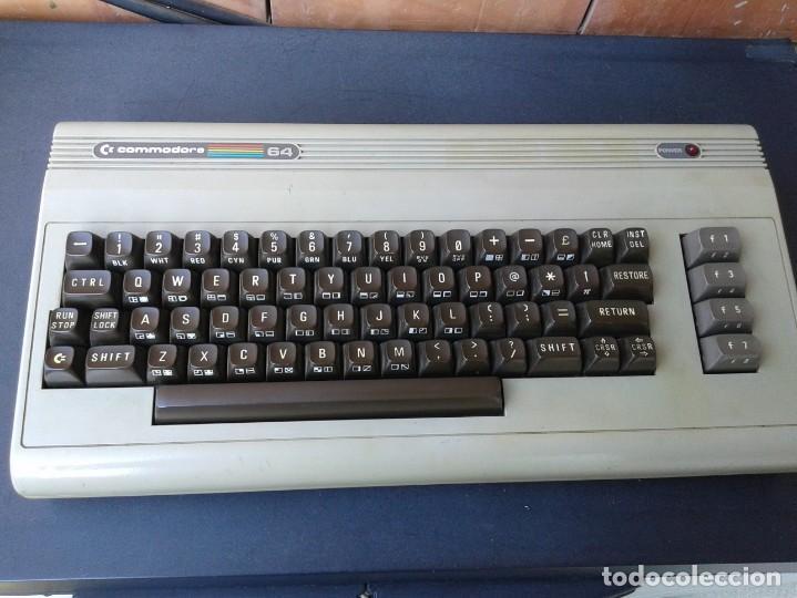 COMMODORE 64 + ALIMENTADOR + CASSETTE 1530 + MANDO (Antigüedades - Técnicas - Ordenadores hasta 16 bits (anteriores a 1982))