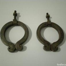Antiquités: LOTE DOS ALDABAS FORJA. IDEAL RESTAURACIÓN RÚSTICA.. Lote 213162697