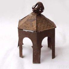 Antigüedades: REMATE O CHIMENEA. LINTERNA MÁGICA PAGODA O TEMPLETE.. Lote 213219763