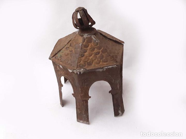 Antigüedades: Remate o chimenea. Linterna mágica Pagoda o Templete. - Foto 2 - 213219763