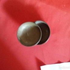 Antigüedades: DOBLE PAREJA DE PLATOS DE BALANZA DE LATÓN 18 Y 16 CM. Lote 213220816