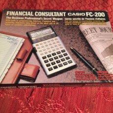 Oggetti Antichi: ANTIGUA CALCULADORA CASIO FC -200 FINANCIAL CONSULTANT SIN ESTRENAR AÑOS 80. Lote 213288763
