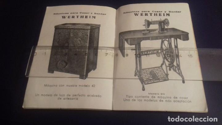 Antigüedades: Instrucciones para el uso de la máquina de coser WERTHEIM RAPIDA - Foto 3 - 213315903