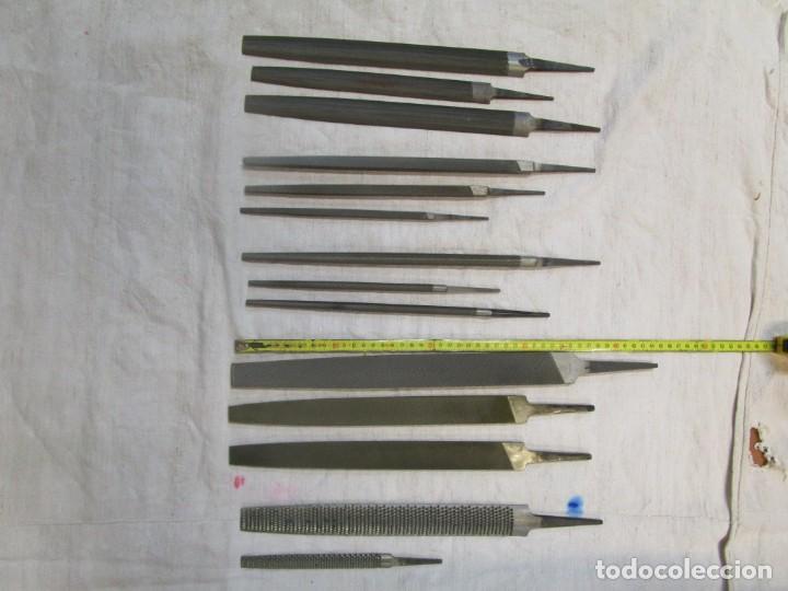 LOTE 14 LIMAS VARIADAS MARCA BELLOTA, SIN USO DIFERENTES GRANOS , 45CM LA MAYOR, 5.5 KILOS + INFO (Antigüedades - Técnicas - Herramientas Profesionales - Mecánica)