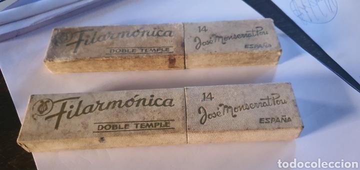 2 NAVAJAS JOSE MONSERRAT DOBLE TEMPLE 14 (Antigüedades - Técnicas - Barbería - Navajas Antiguas)