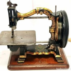 Antigüedades: ANTIGUA RARA MAQUINA DE COSER THE CHALLENGE 1870 RARE ANTIQUE SEWING MACHINE. Lote 213483088