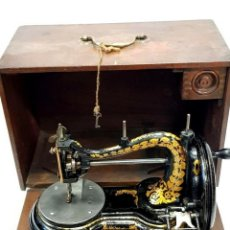 Antigüedades: ANTIGUA MAQUINA DE COSER SERPENTINE JONES ANTIQUE RARE SEWING MACHINE DE 1909. Lote 213483511
