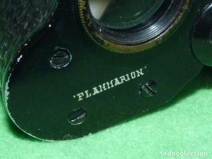 Antigüedades: PRECIOSOS PRISMATICOS FLAMMARION BINOCULARES GEMELOS PRIMER TERCIO SIGLO XX CALIDAD - Foto 4 - 213502822