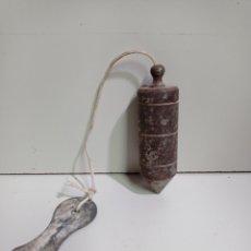 Antigüedades: ANTIGUA PLOMADA DE ALBAÑILERÍA DE HIERRO. 10 CM .. Lote 213508907