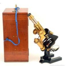 Antigüedades: MICROSCOPIO ANTIGUO ROSS (C.1890). Lote 213532136