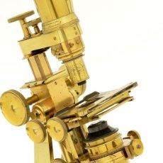 Antigüedades: EXCEPCIONAL MICROSCOPIO BINOCULAR ROSS (C.1870). Lote 213533621