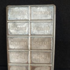 Antigüedades: ANTIGUO MOLDE DE TABLETA DE CHOCOLATE. MONRABA, LLEIDA.. Lote 213615733